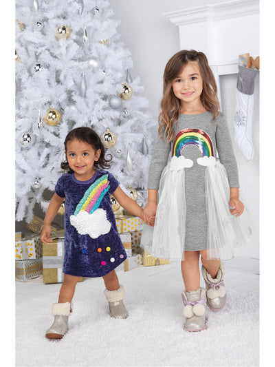 Girls Her Own Rainbow Dress  grey alt1