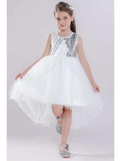 Girls High-Low Hem Dress