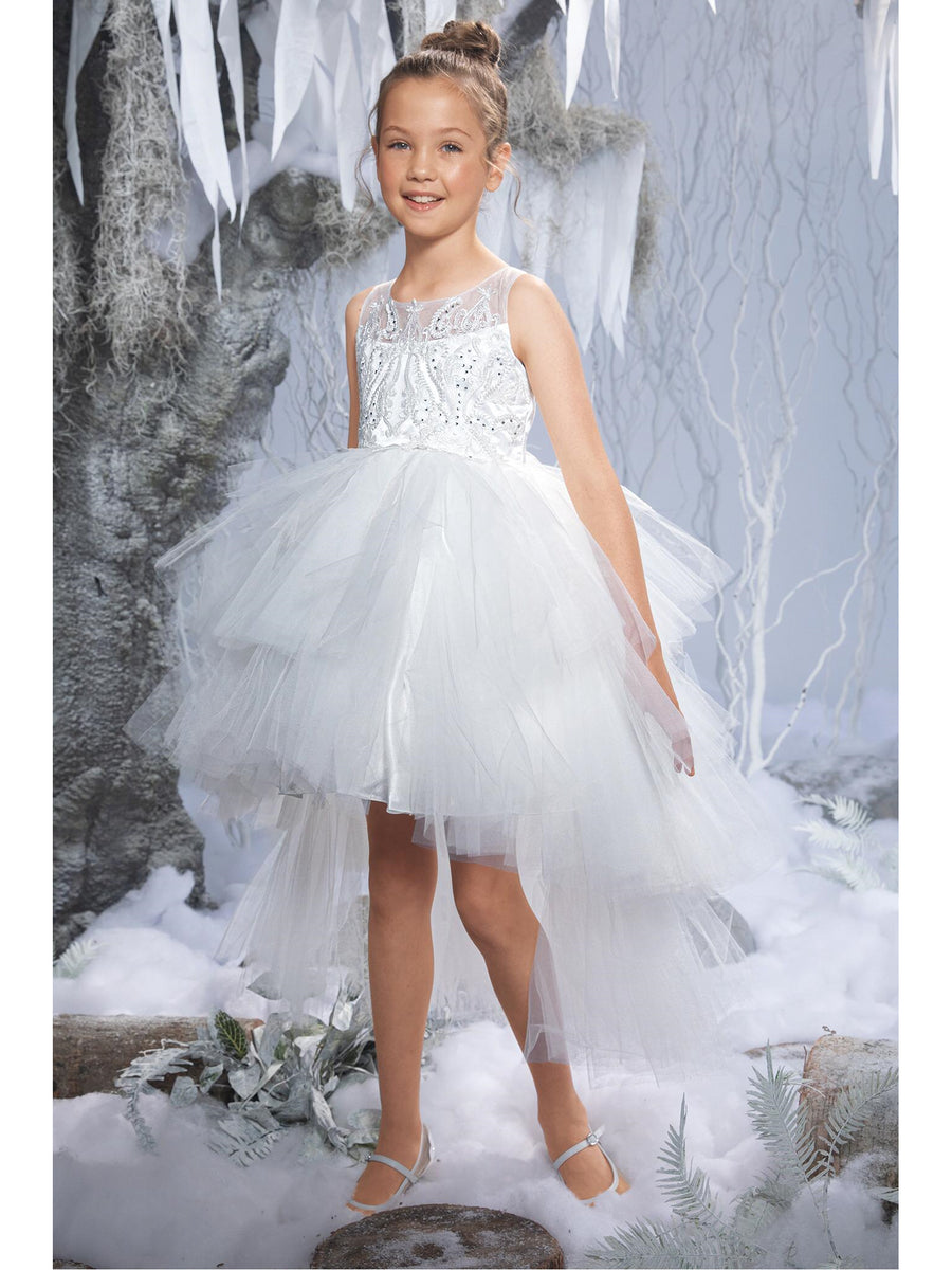 Girls High/Low Layered Tutu Dress