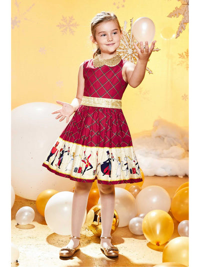 Girls Holiday Ballet Dress  red alt1