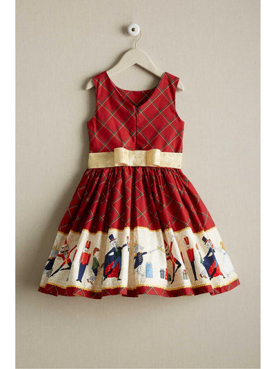 Girls Holiday Ballet Dress  red alt2