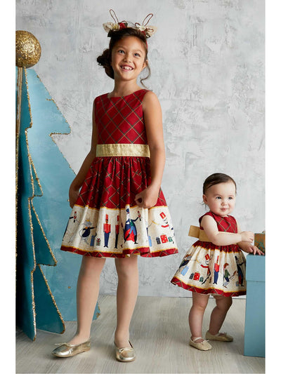 Girls Holiday Ballet Dress  red alt3