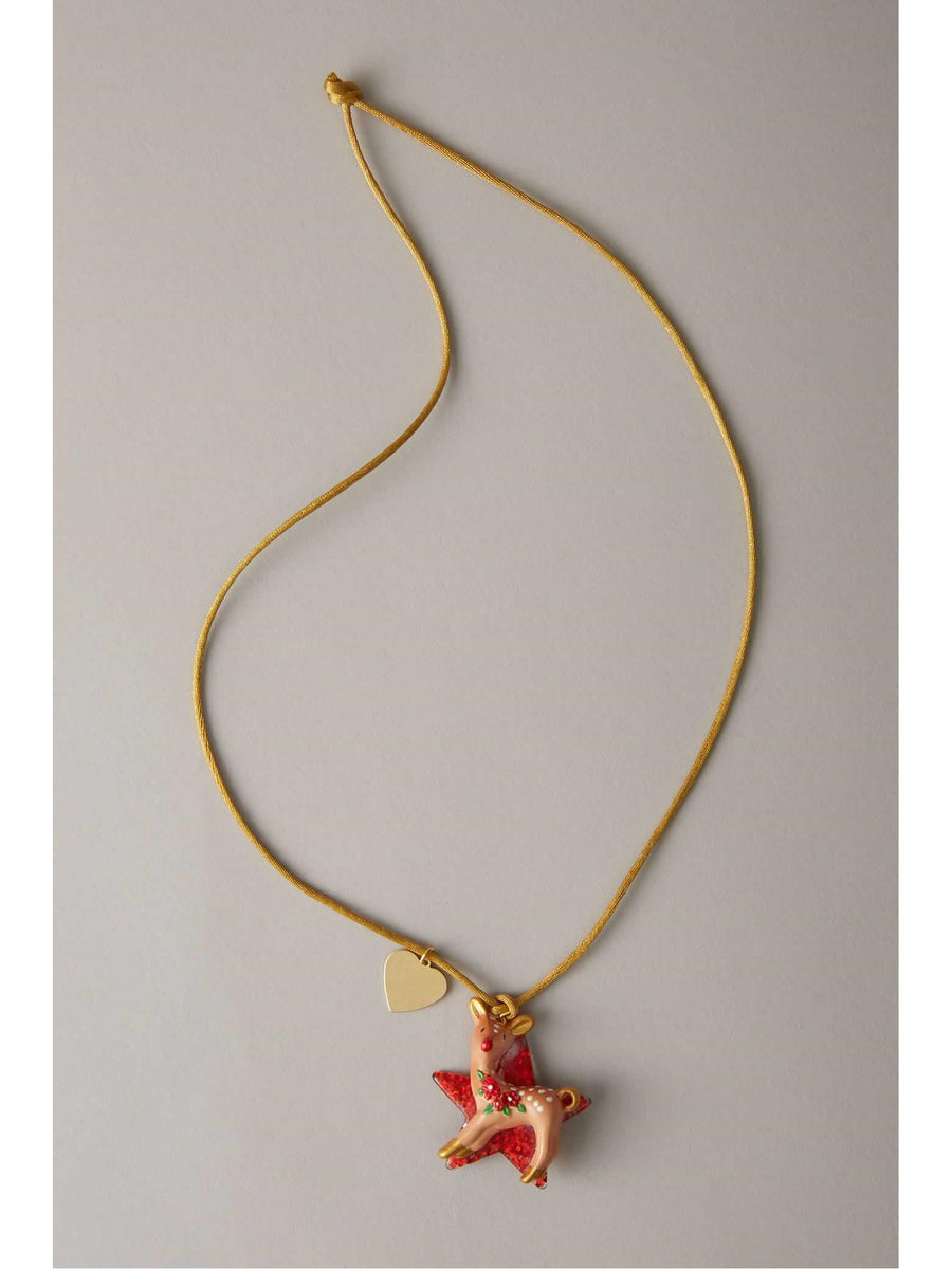 Girls Holiday Fawn Necklace