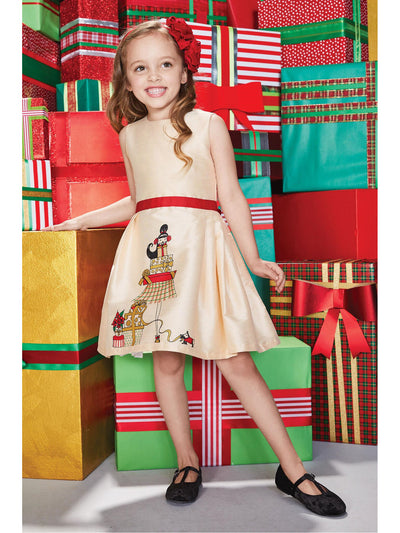 Girls Holiday Presents Party Dress