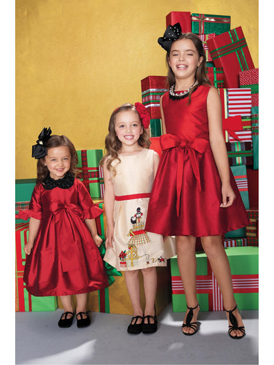 Girls Holiday Presents Party Dress  ivo alt1