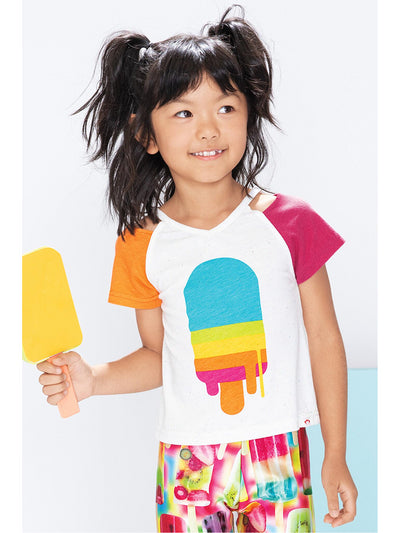 Girls Hurry Before It Melts Tee  white alt1
