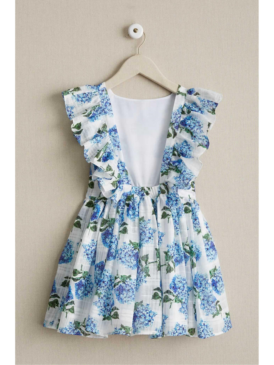 Girls Hydrangea Pinafore Dress