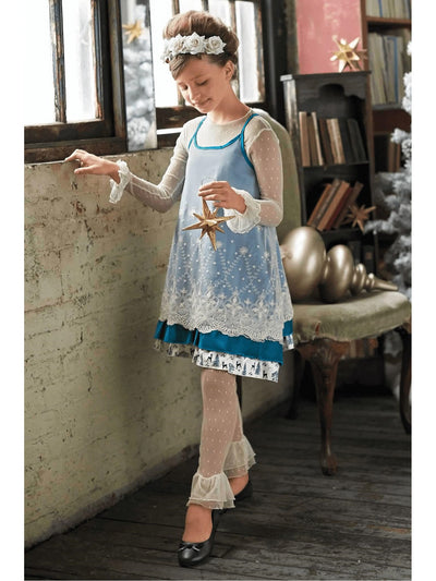 Girls Icy Lace Jumper  blu alt1