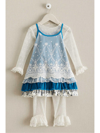 Girls Icy Lace Jumper  blu alt2