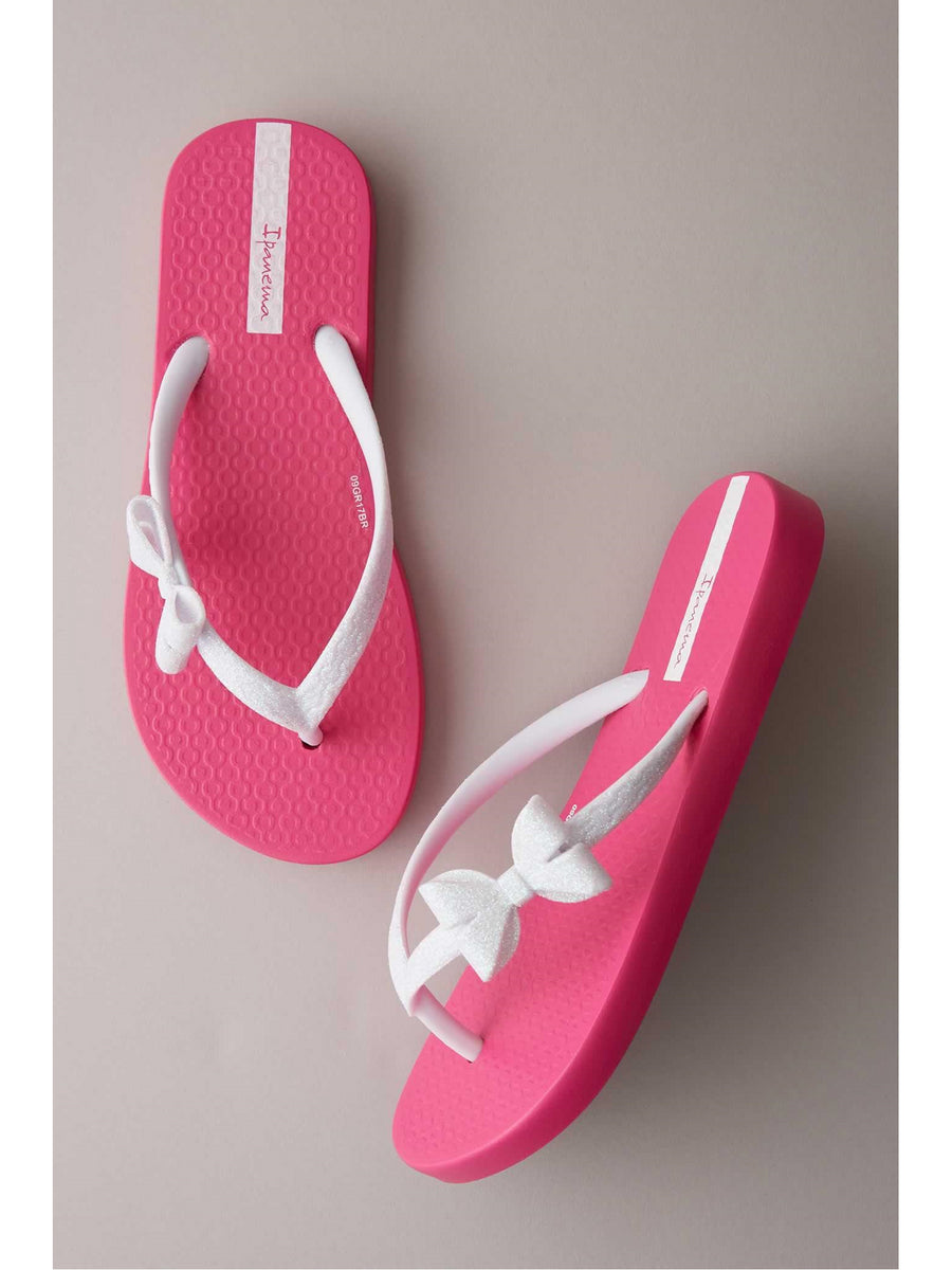 Girls Ipanema Glitter Bow Flip-Flops