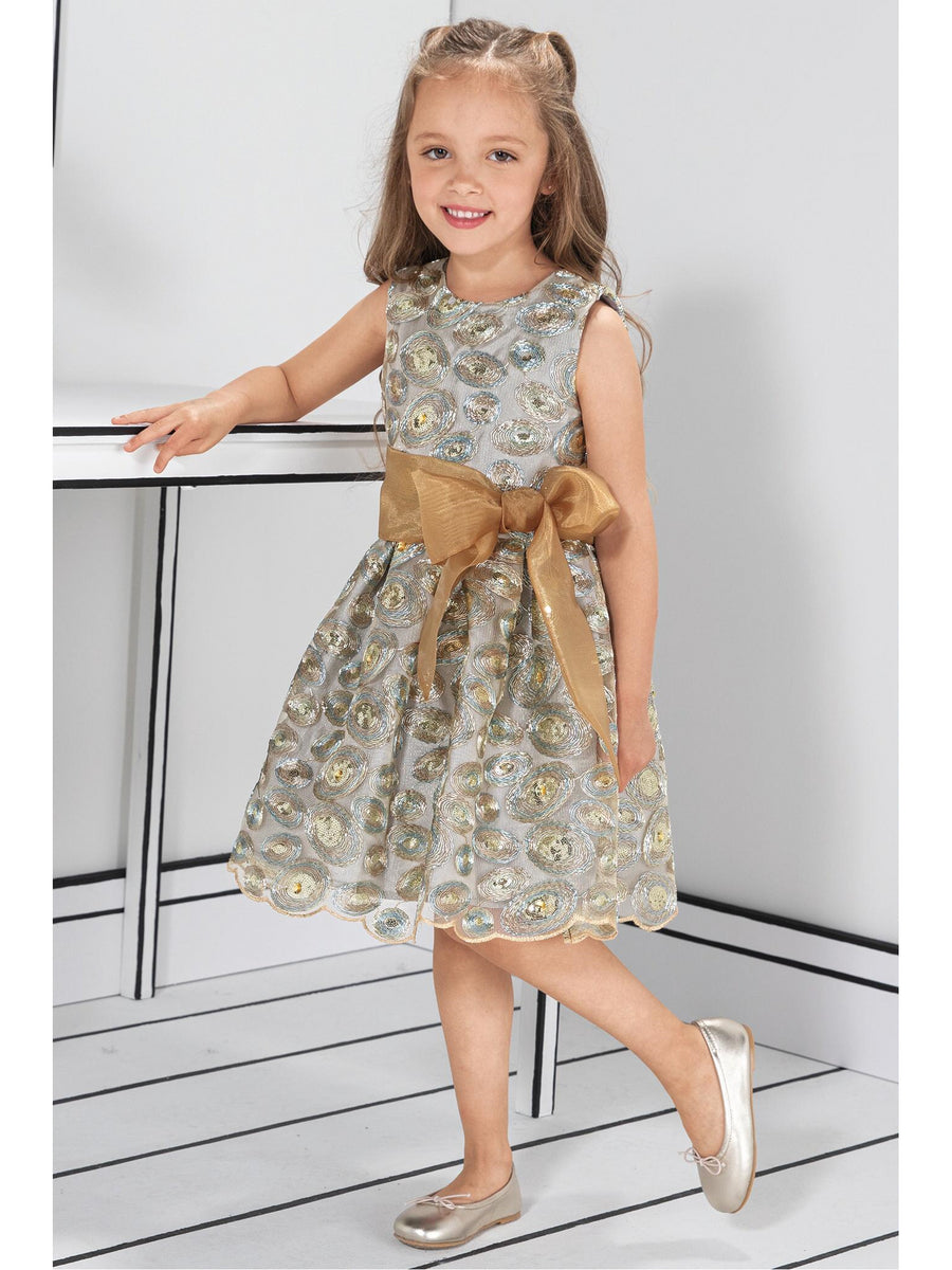 Girls Isabel Garreton® Sequin Swirls Party Dress