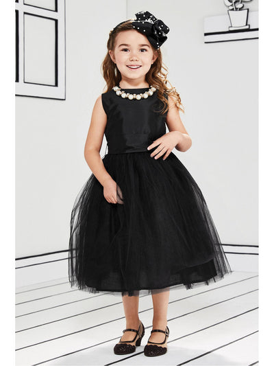 Girls Isabel Garreton® Taffeta & Tulle Dress