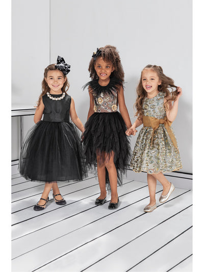 Girls Isabel Garreton® Taffeta & Tulle Dress  bla alt1