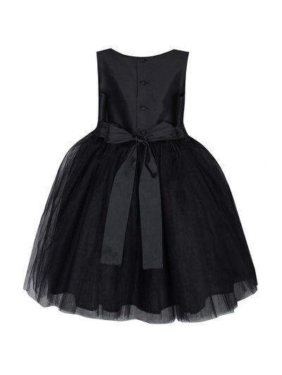 Girls Isabel Garreton® Taffeta & Tulle Dress  bla alt2