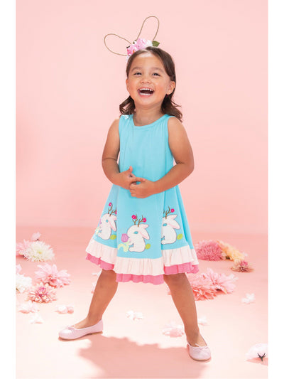 Girls Jackalope Parade Dress  blu alt2