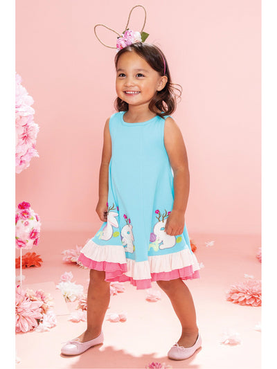 Girls Jackalope Parade Dress  blu alt3