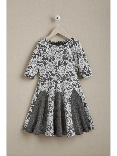 Girls Jacquard Twirl Dress