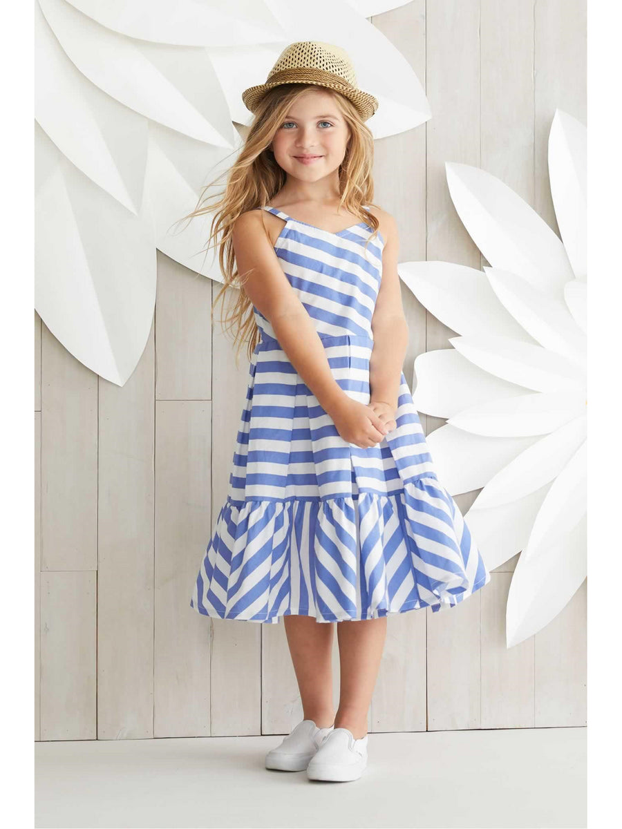 Girls Jaunty Stripes Dress