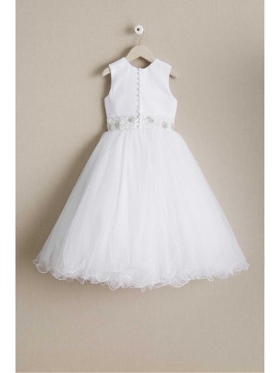 Girls Jeweled Waist Dress  whi alt2