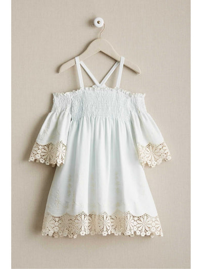 Girls Juliet Lace Trim Dress  lbl alt2