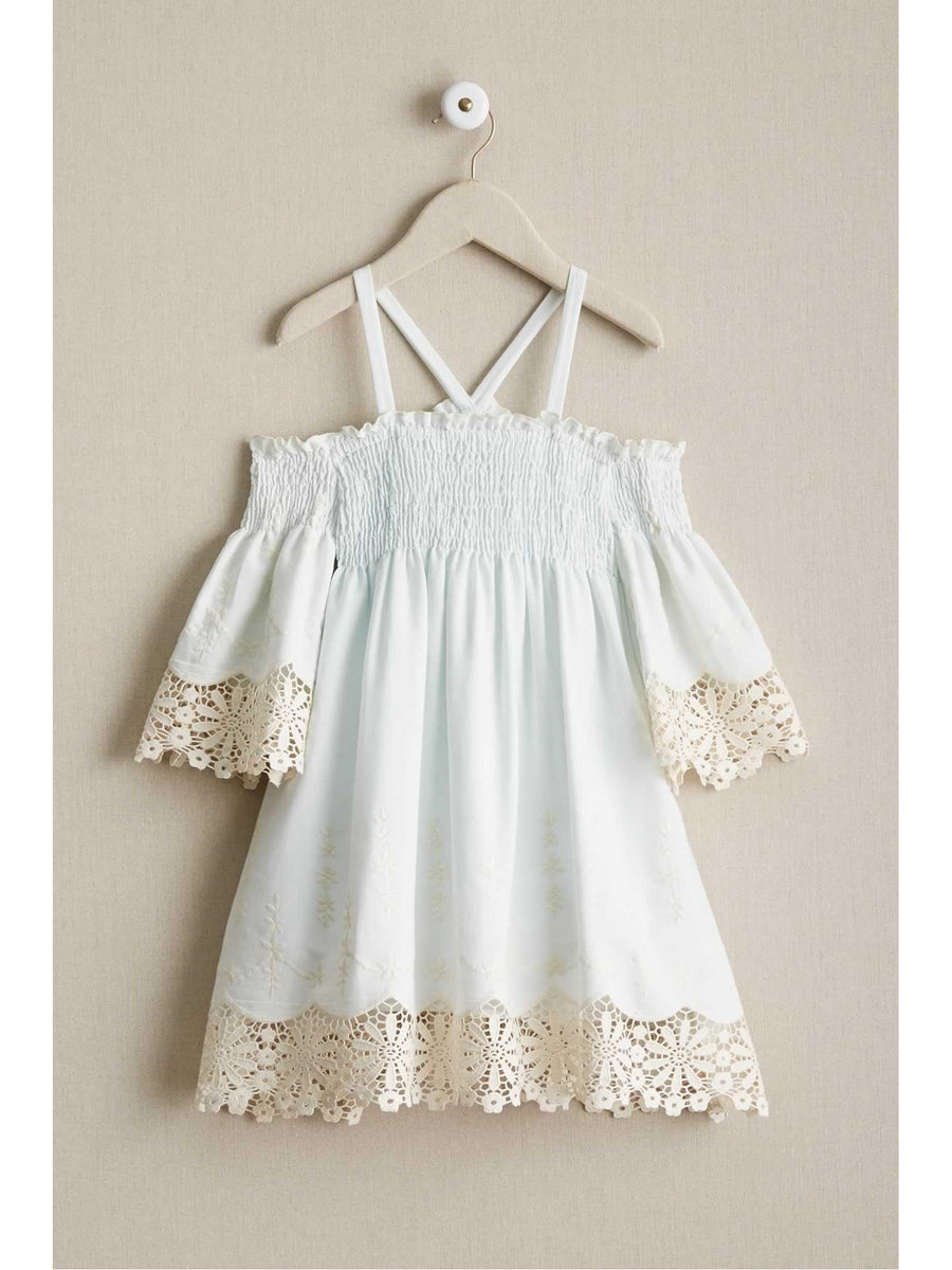 Girls Juliet Lace Trim Dress