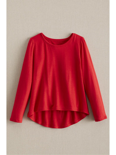 Girls Knit Swing Top  red 1