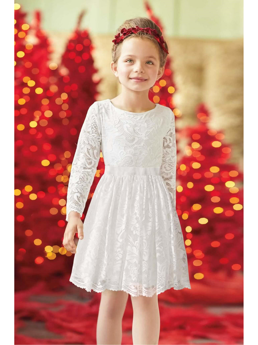 Girls Lace Angel Dress