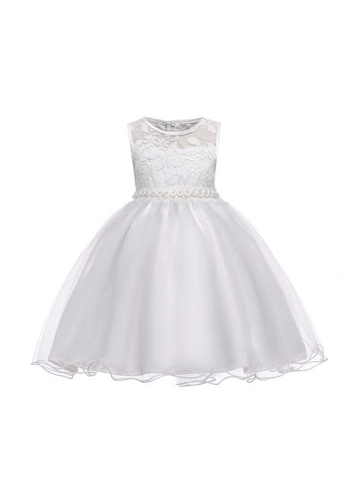 Girls Lace-Bodice Dress