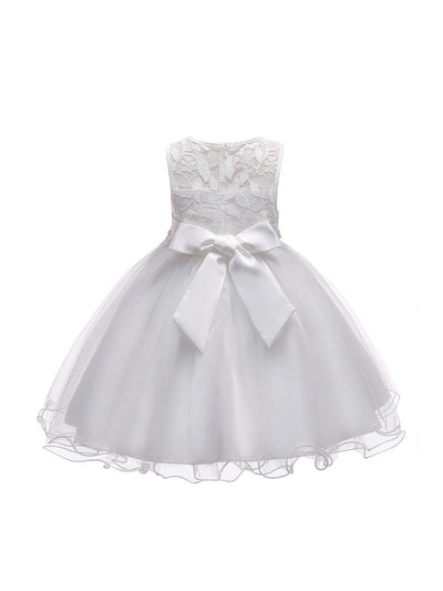 Girls Lace-Bodice Dress  white alt1