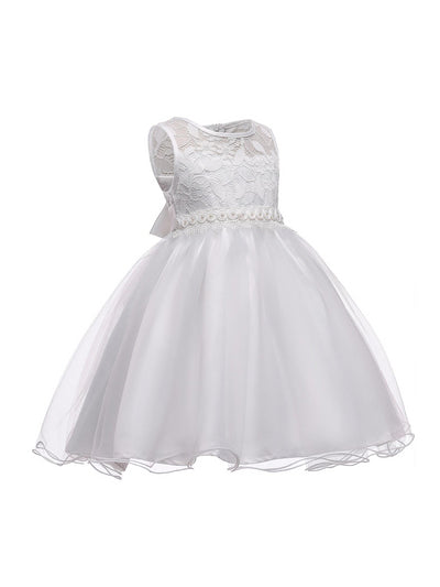Girls Lace-Bodice Dress  white alt2