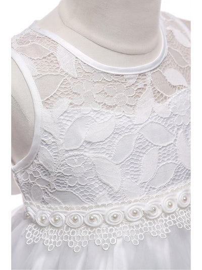 Girls Lace-Bodice Dress  white alt3