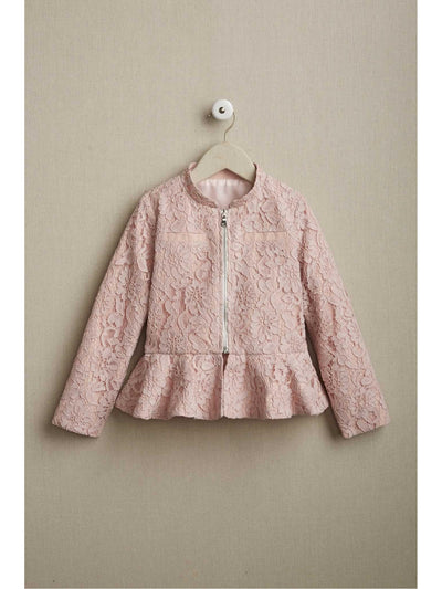 Girls Lace Peplum Jacket