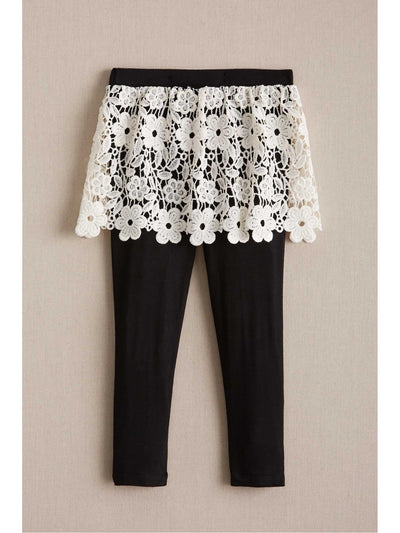 Girls Lace Skirted Leggings
