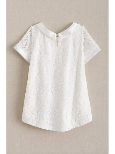 Girls Lace Swing Top  whi alt1