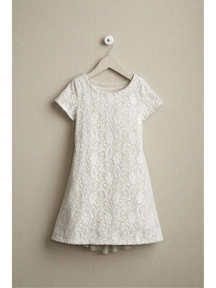 Girls Lacy Knit Dress