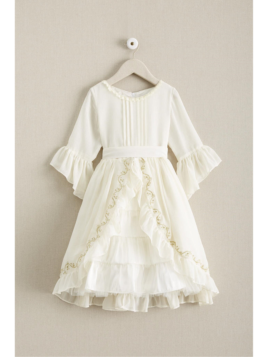 Girls Ladylike Chiffon Dress