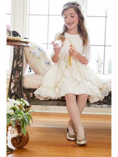 Girls Ladylike Chiffon Dress  ivo alt3
