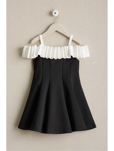 Girls Licorice Ruffle Dress