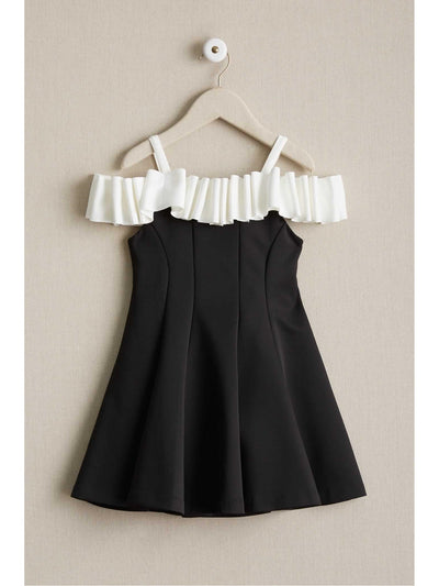 Girls Licorice Ruffle Dress  bla alt2