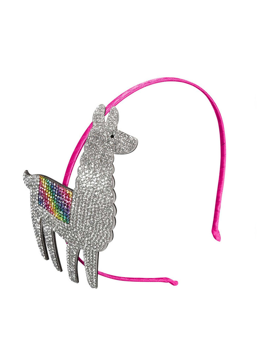Girls Llama Crystal Headband