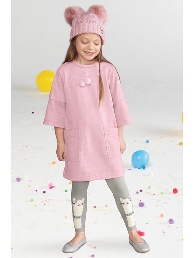 Girls Llama with Roses Tights  cha alt1