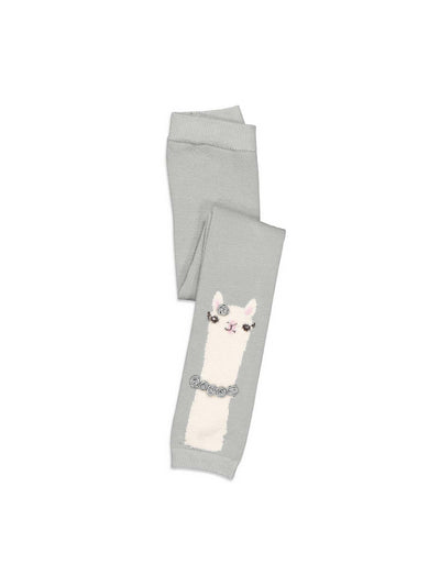 Girls Llama with Roses Tights  cha alt2