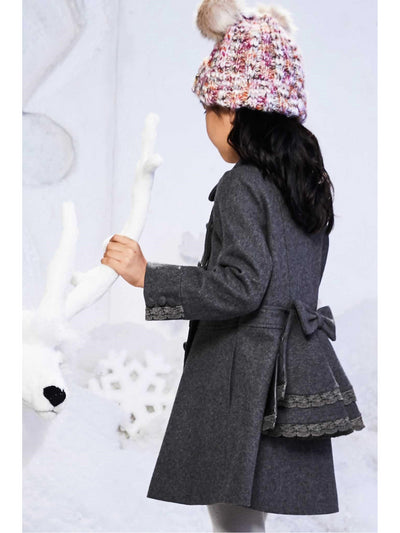 Girls London Coat  gra alt2