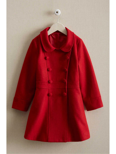 Girls London Coat  red 1