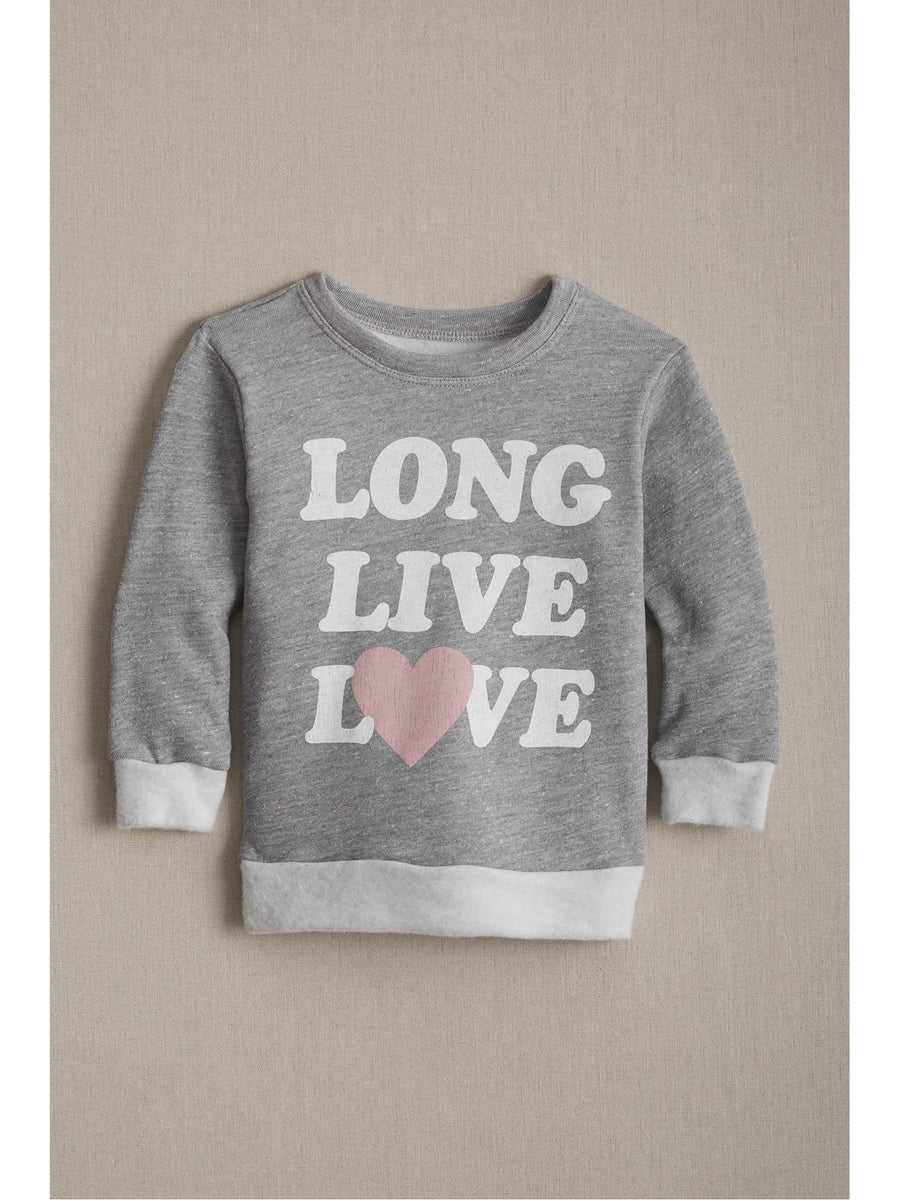 Girls Long Live Love Sweatshirt