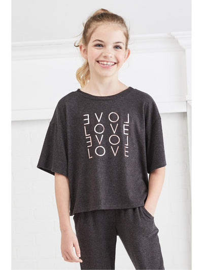 Girls Lots of Love Boxy Top  cha alt1