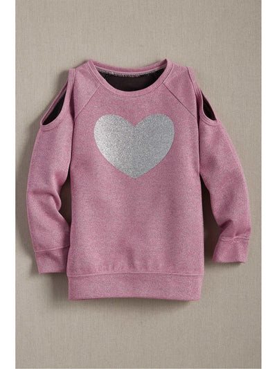 Girls Lurex Heart Sweatshirt  pin 1