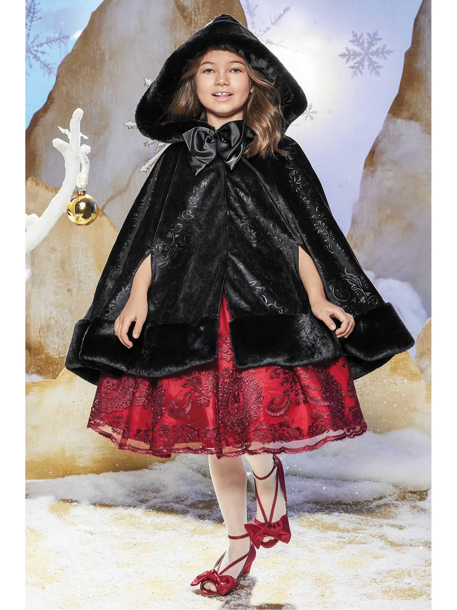 Girls Luxe Velvet Cape