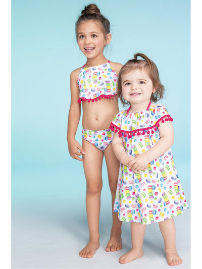 Girls Macarons & Pom Poms Cover-up  macar alt1
