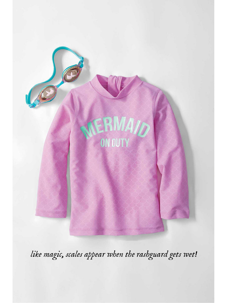 Girls Magic Mermaid Rashguard Set